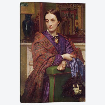Portrait of Fanny Holman Hunt (1833-66) 1866-68  3-Piece Canvas #BMN8336} by William Holman Hunt Canvas Art Print