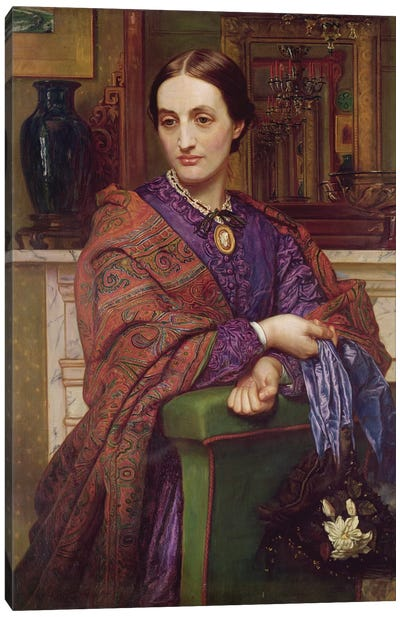 Portrait of Fanny Holman Hunt (1833-66) 1866-68  Canvas Art Print