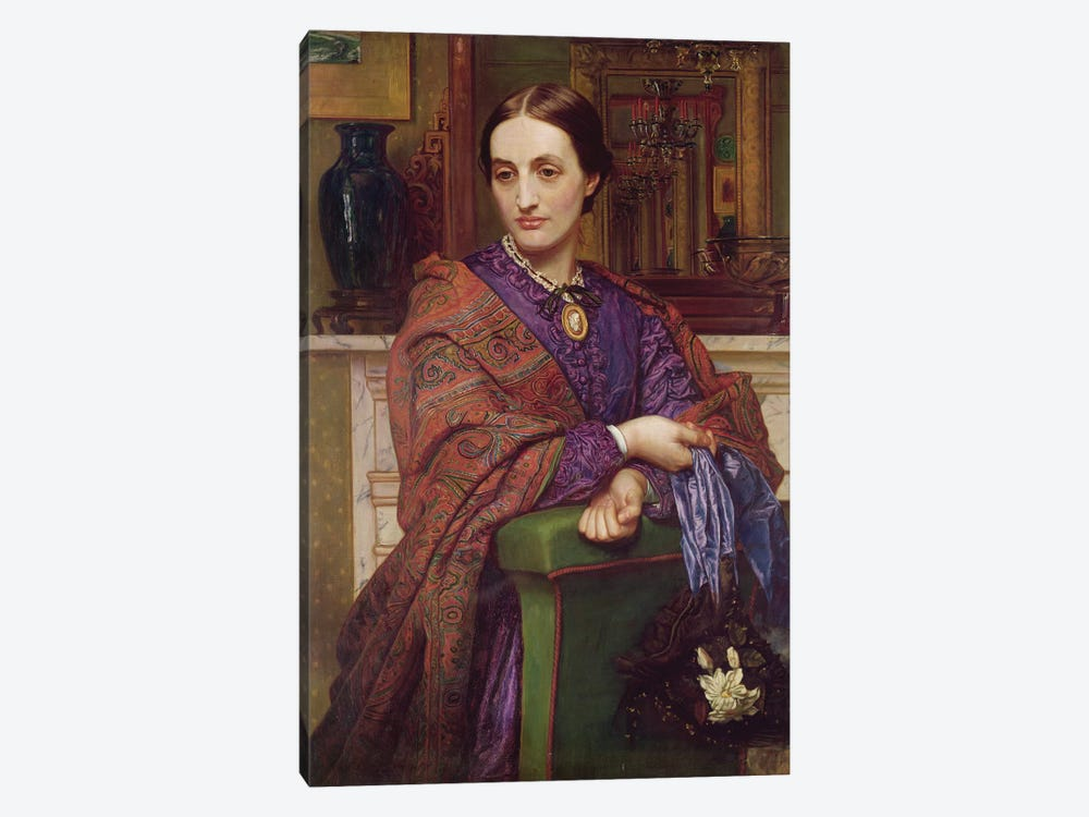 Portrait of Fanny Holman Hunt (1833-66) 1866-68  by William Holman Hunt 1-piece Canvas Print