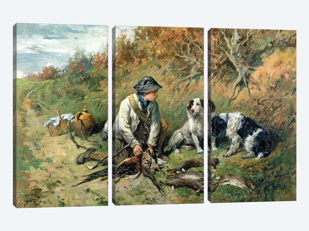 The Day's Bag by John Emms 3-piece Canvas Wall Art