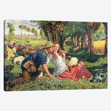 The Hireling Shepherd  Canvas Print #BMN8343} by William Holman Hunt Canvas Art Print