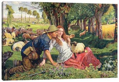 The Hireling Shepherd  Canvas Art Print
