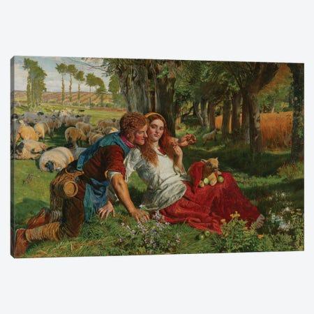 The Hireling Shepherd, 1851  Canvas Print #BMN8344} by William Holman Hunt Canvas Wall Art
