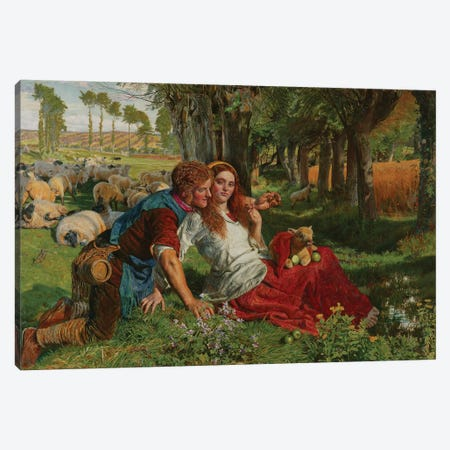 The Hireling Shepherd, 1851  Canvas Print #BMN8344} by William Holman Hunt Canvas Wall Art