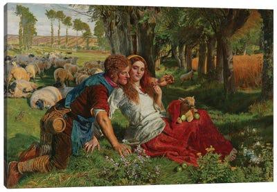 The Hireling Shepherd, 1851  Canvas Art Print