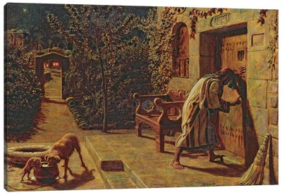 The Importunate Neighbour, 1895  Canvas Art Print