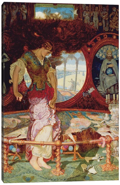 The Lady of Shalott, c.1886-1905  Canvas Art Print