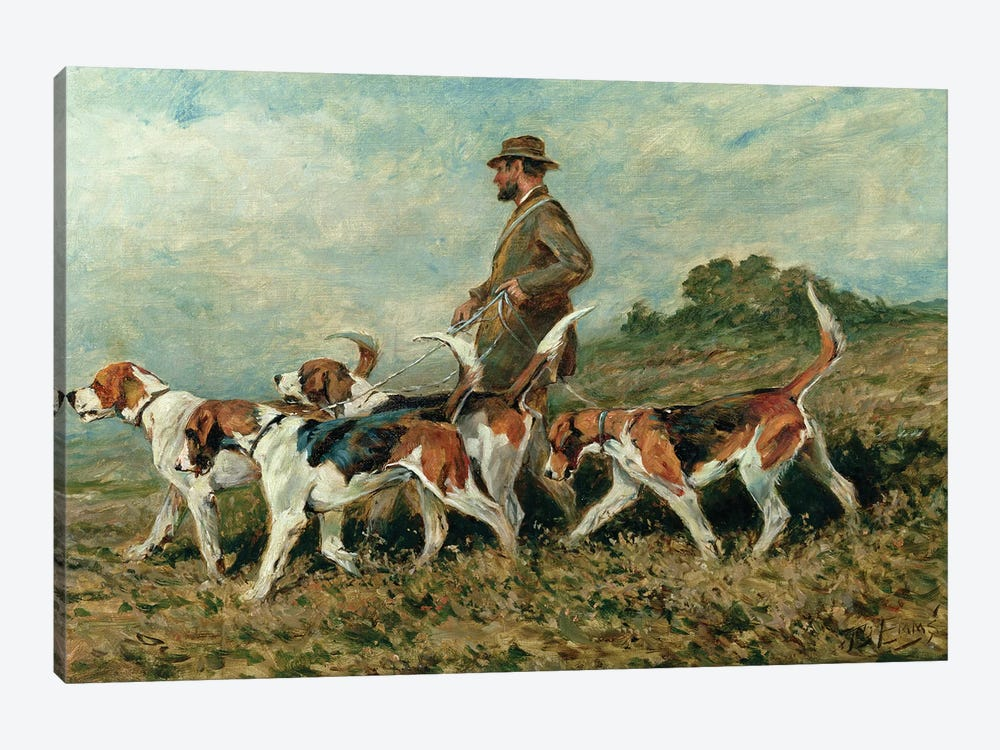 Hunting Exercise by John Emms 1-piece Canvas Art Print