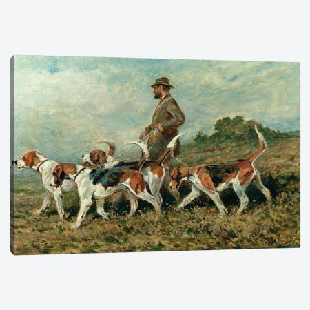 Hunting Exercise Canvas Print #BMN834} by John Emms Canvas Art