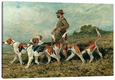 Hunting Exercise Canvas Art Print