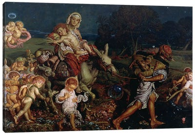 The Triumph of the Innocents, 1876  Canvas Art Print