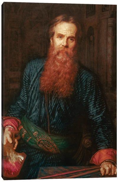 William Holman Hunt (1827-1910) English painter Preraphaelite portrait of the artist in 1875 Uffizi gallery in Florence Canvas Art Print