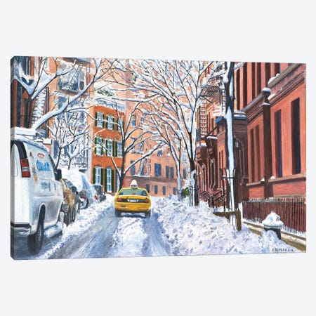 Snow, West Village, NYC, 2012  Canvas Print #BMN8357} by Anthony Butera Art Print