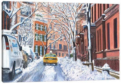 Snow, West Village, NYC, 2012  Canvas Art Print