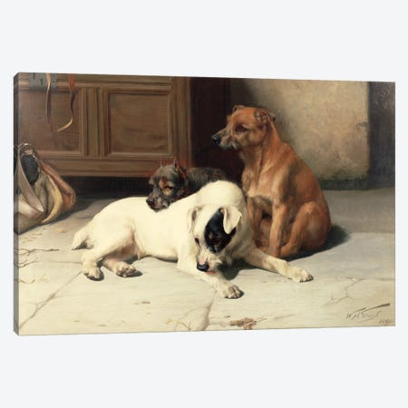 Waiting For Master Canvas Print #BMN839} by William Henry Hamilton Trood Canvas Print
