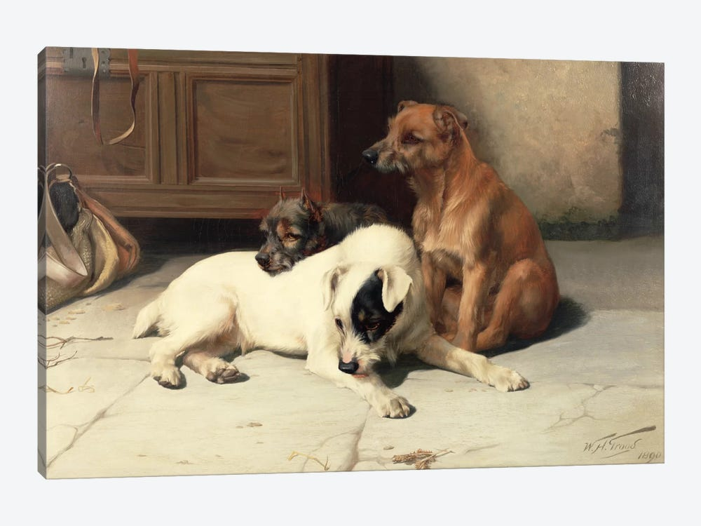 Waiting For Master by William Henry Hamilton Trood 1-piece Canvas Artwork