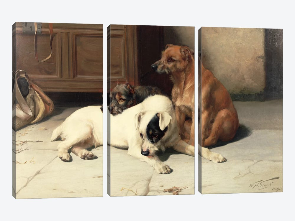 Waiting For Master by William Henry Hamilton Trood 3-piece Canvas Wall Art