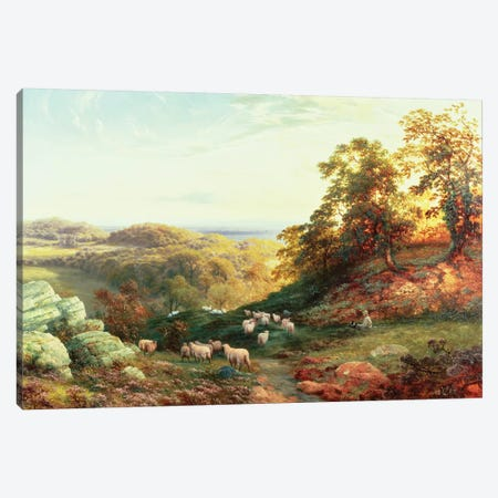 Watching the Flock Canvas Print #BMN840} by George Vicat Cole Canvas Wall Art