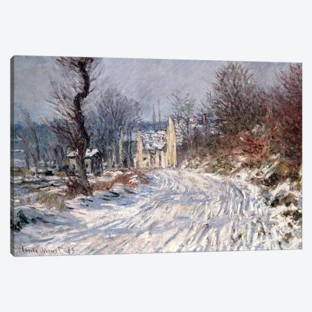 The Road to Giverny, Winter, 1885 Canvas Print #BMN841} by Claude Monet Canvas Wall Art