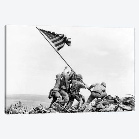 Raising the Flag on Iwo Jima, February 23, 1945 Canvas Print #BMN8427} by Joe Rosenthal Canvas Print