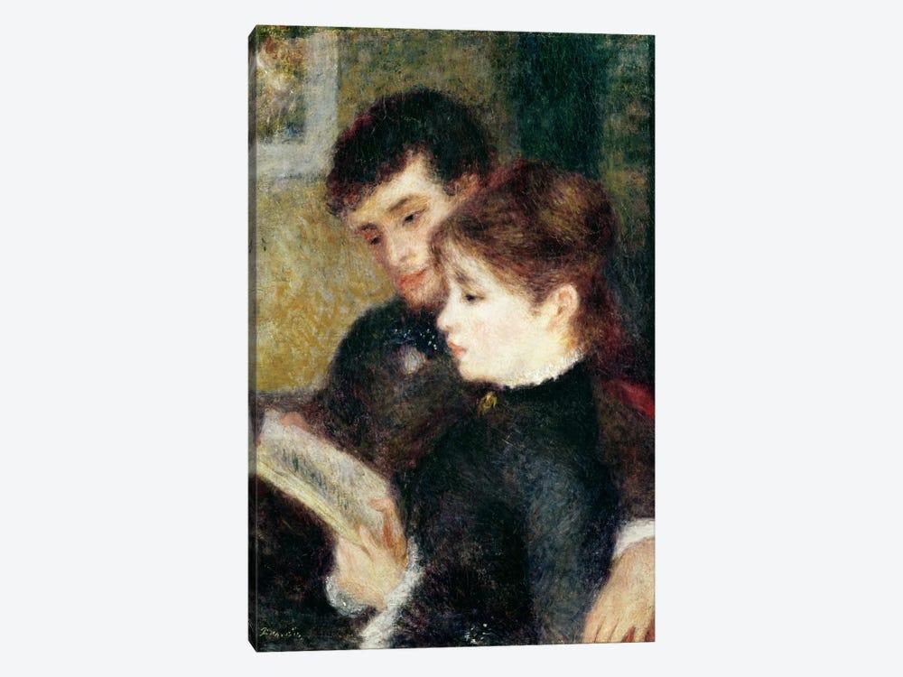 Couple Reading  by Pierre-Auguste Renoir 1-piece Canvas Print