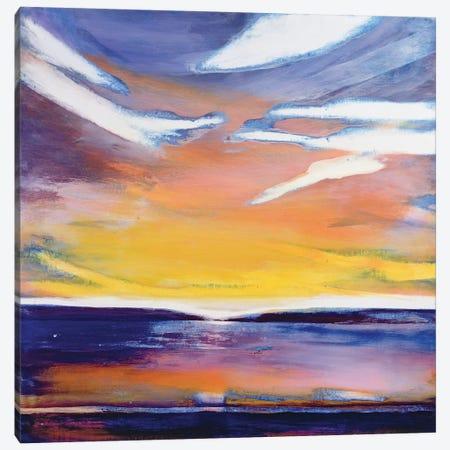 Evening seascape  Canvas Print #BMN8441} by Lou Gibbs Canvas Wall Art
