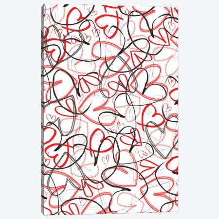 Hearts, 2015, Digital Media Canvas Print #BMN8448} by Louisa Hereford Canvas Artwork