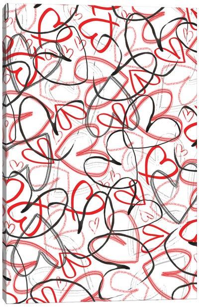 Hearts, 2015, Digital Media Canvas Art Print