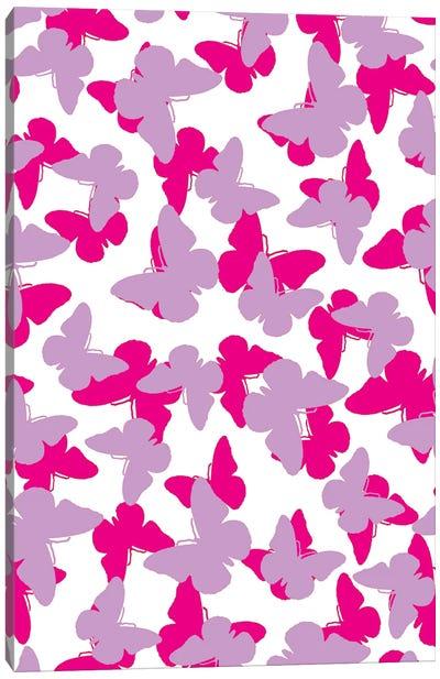 Layered Butterflies  Canvas Art Print
