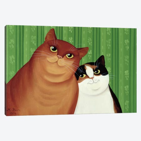 Moggies, 1994  Canvas Print #BMN8453} by Magdolna Ban Canvas Art Print