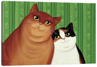 Moggies, 1994  Canvas Art Print