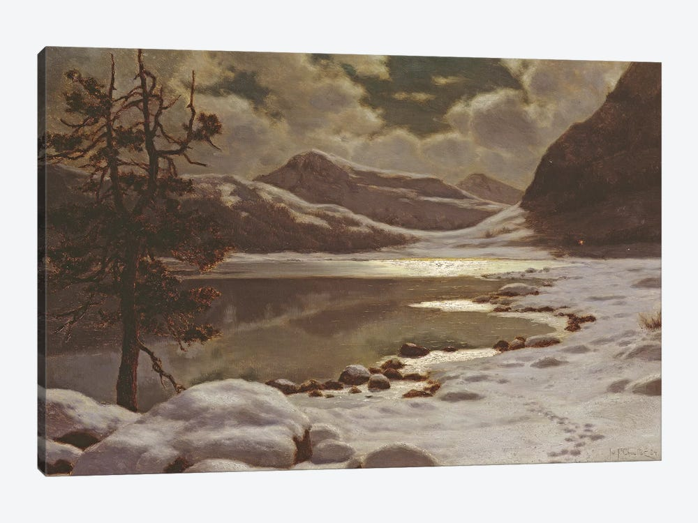Moonlight in Winter  by Ivan Fedorovich Choultse 1-piece Canvas Print