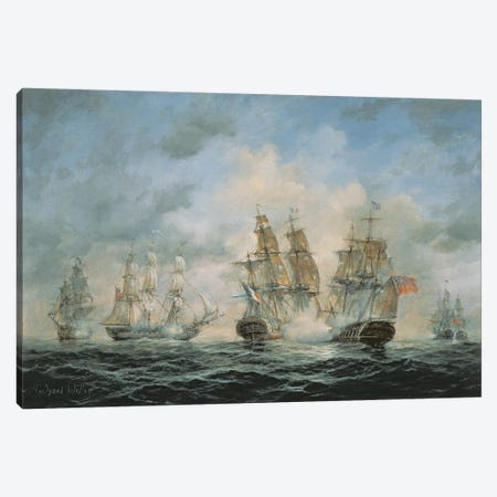 19th Century Naval Engagement in Home Waters Canvas Print #BMN8467} by Richard Willis Canvas Print