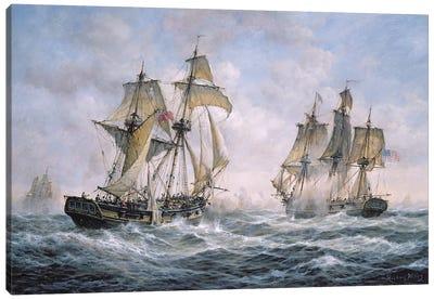 "Action Between U.S. Sloop-of-War ""Wasp"" and H.M. Brig-of-War ""Frolic"", 1812 Canvas Art Print"