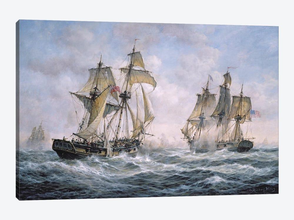 "Action Between U.S. Sloop-of-War ""Wasp"" and H.M. Brig-of-War ""Frolic"", 1812 by Richard Willis 1-piece Canvas Print"