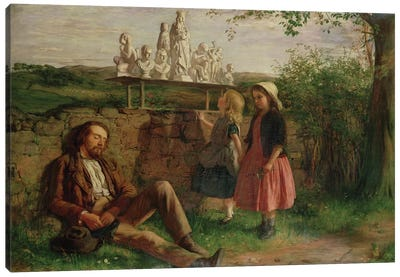The Italian Image Seller Canvas Art Print