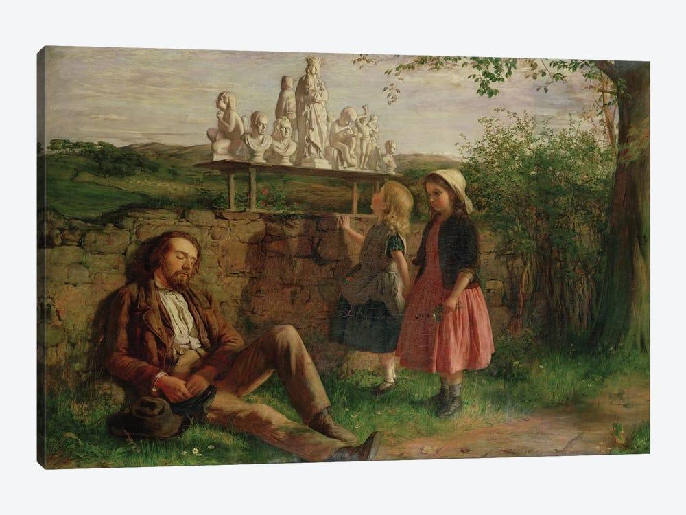 The Italian Image Seller by Hugh Cameron 1-piece Canvas Artwork