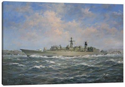 H.M.S. Chatham Type 22  Frigate, 1996 Canvas Art Print