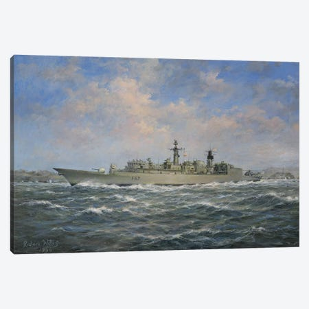 H.M.S. Chatham Type 22  Frigate, 1996 Canvas Print #BMN8471} by Richard Willis Art Print