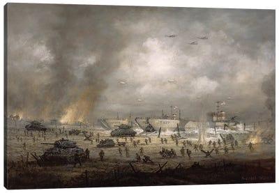 The Tanks Go In', Sword Beach  Canvas Art Print