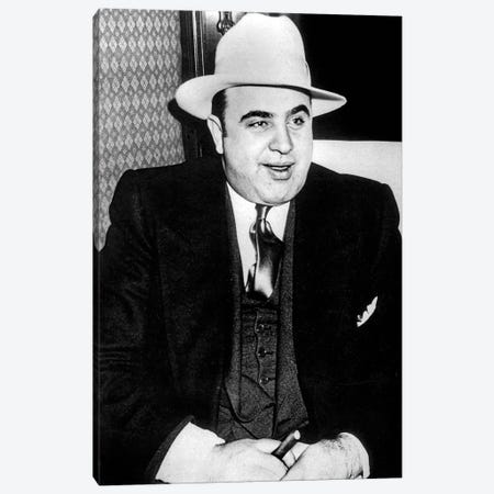 Al Capone  American gangster, mafioso in Chicago at time of prohibition here c. 1927 Canvas Print #BMN8488} by Rue Des Archives Canvas Artwork