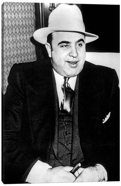 Al Capone  American gangster, mafioso in Chicago at time of prohibition here c. 1927 Canvas Art Print