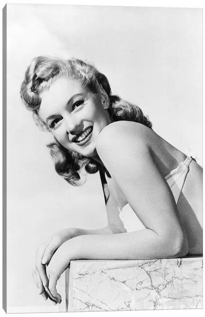 American actress and singer Marilyn Monroe , 1948  Canvas Art Print