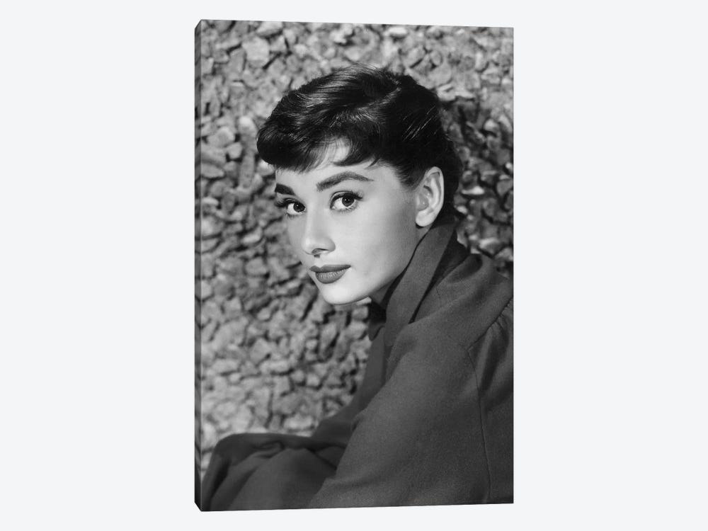 American Actress Audrey Hepburn in 1954 by Rue Des Archives 1-piece Canvas Artwork