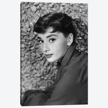 American Actress Audrey Hepburn in 1954 Canvas Print #BMN8492} by Rue Des Archives Art Print