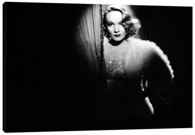 Ange d'Ernst Lubitsch avec Marlene Dietrich, 1937. Canvas Art Print