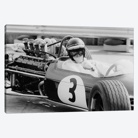 Austrian pilot Jochen Rindt  at Grand Prix of Monaco 1968 Canvas Print #BMN8500} by Rue Des Archives Canvas Art Print