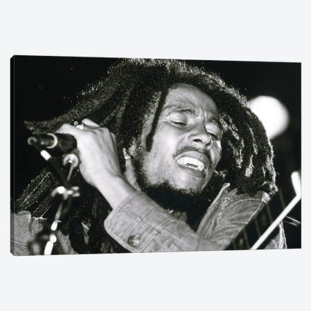 Bob Marley Canvas Print #BMN8507} by Rue Des Archives Canvas Art