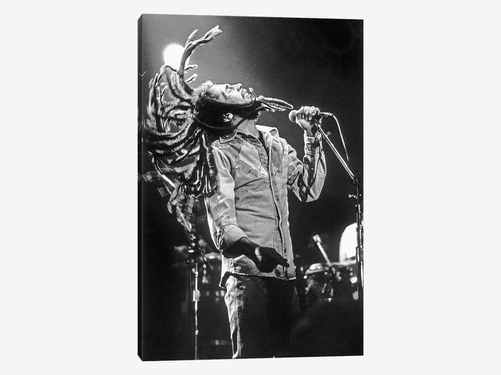 Bob Marley in Reggae concert at Roxy, Los Angeles on May 26, 1976 by Rue Des Archives 1-piece Canvas Wall Art