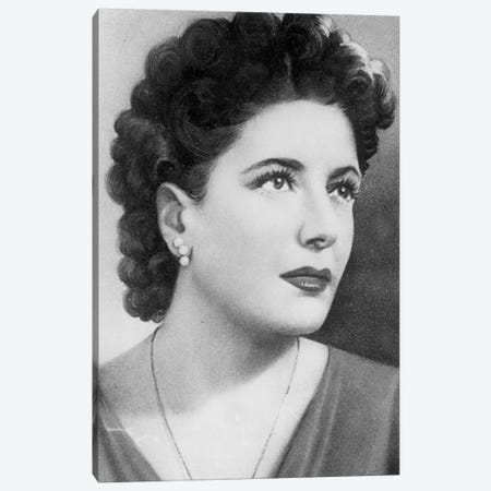 Clara Petacci , mistress and favorite of Benito Mussolini, here in the 40's Canvas Print #BMN8514} by Rue Des Archives Art Print